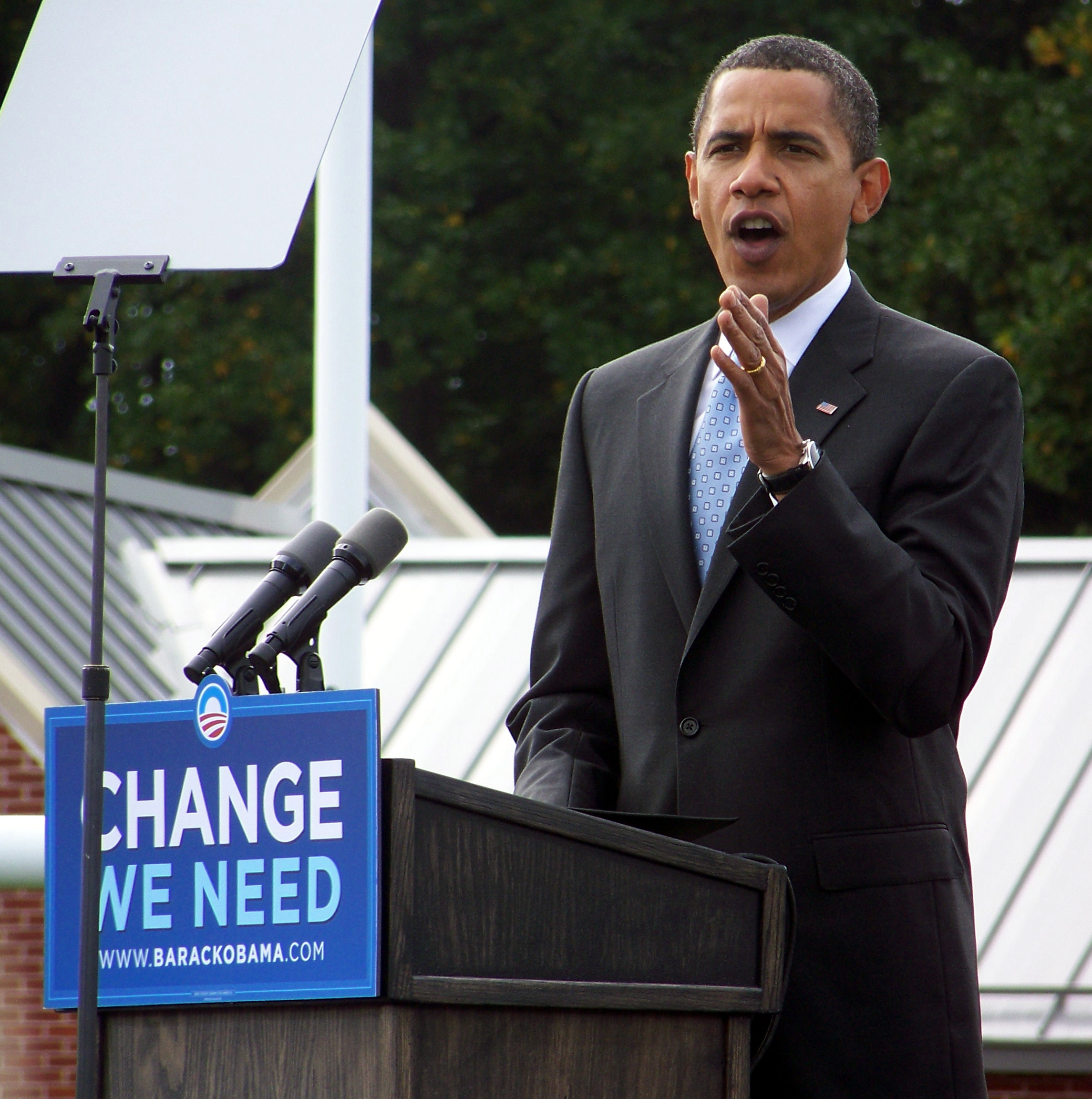 President Obama in August 2008