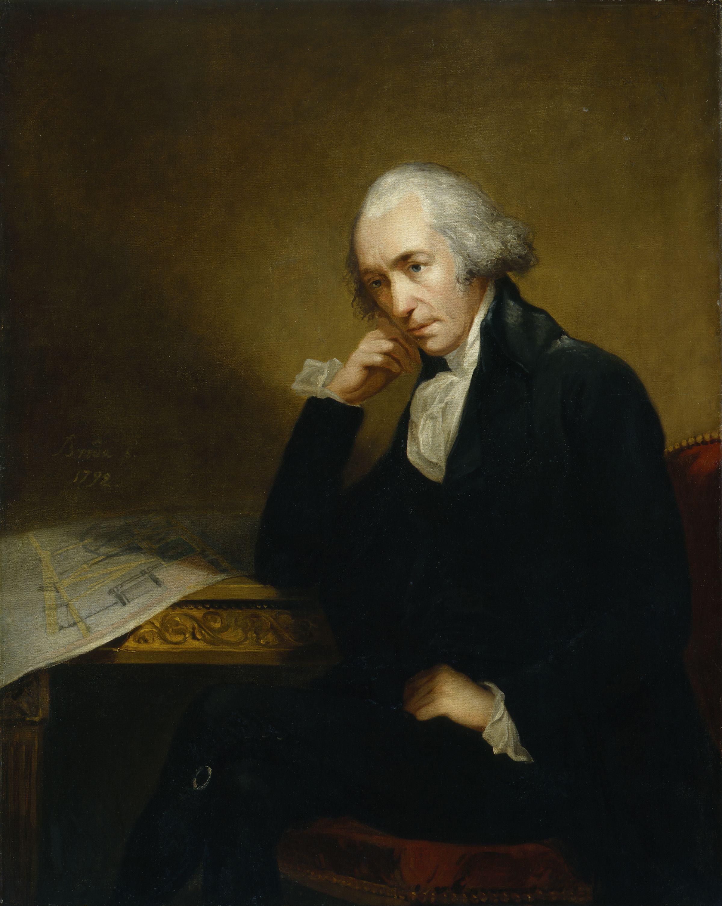 Portrait of James Watt, the noted Scottish inventor and mechanical engineer by Carl Frederik von Breda.