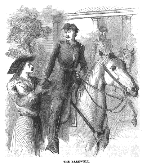 An illustration to the article Wild Bill by George Ward Nichols (Harper's New Monthly Magazine, February, 1867).