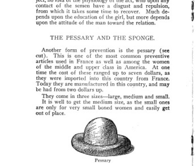 This Page From Sangers Family Limitation 1917 Edition Describes A Cervical Cap