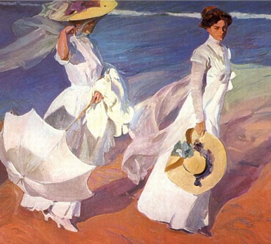 Walk on the Beach, by Joaquin Sorolla