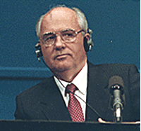 Mikhail Gorbachev in 1990 at Helsinki summit. ...