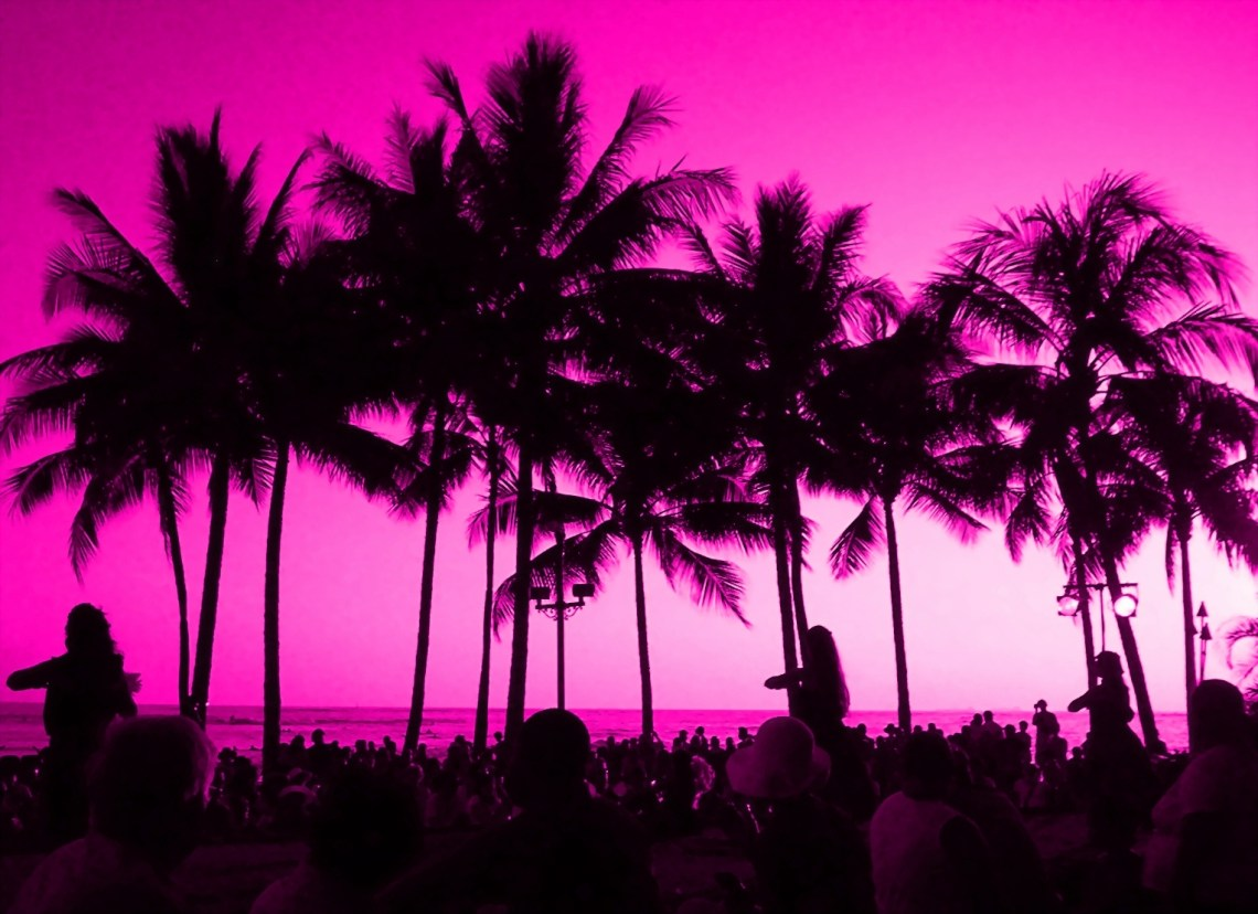 Pink Sunset of My Dreams Free Creative Commons Waikiki Beach%2C Hawaii %28192074461%29 Pretty Wallpapers For Iphone