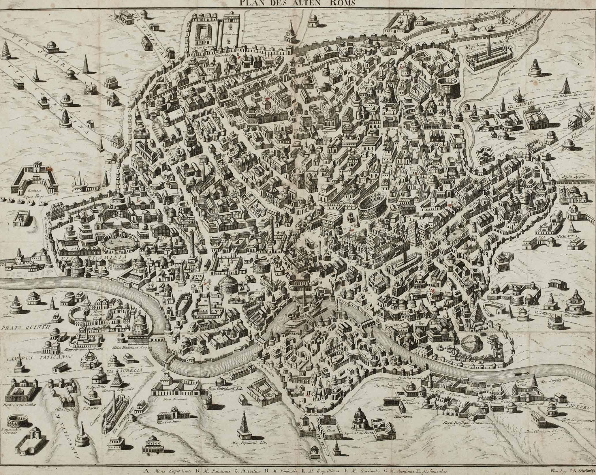 File Plan Des Alten Roms Nachdruck Wien Bey F A Schrambl