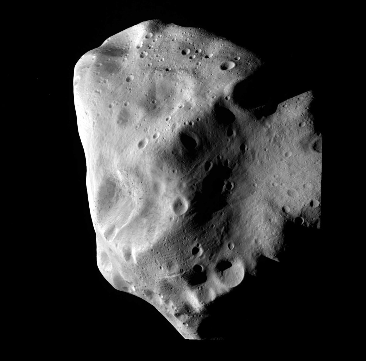 ESO image of asteroid Lutetia, via wikipedia