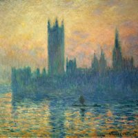 """The Houses of Parliament, Sunset"" by Claude Monet (National Gallery of Art, DC)"