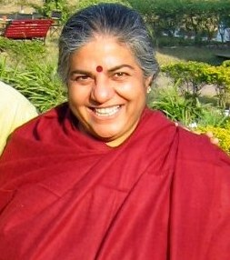 English: Vandana Shiva, noted environmentalist...