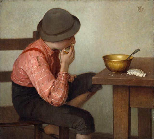 Ozias Leduc - Boy with Bread
