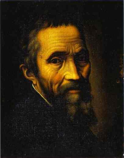 """Portrait of Michelangelo at the Time of the Sistine Chapel"" by Marcello Venusti, about 1535."