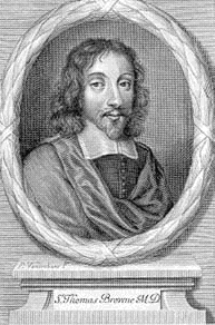 English: Sir Thomas Browne, engraving from an ...