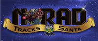 English: 2005 NORAD Tracks Santa Logo