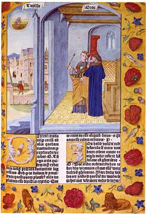 Lady Philosophy and Boethius from the Consolat...