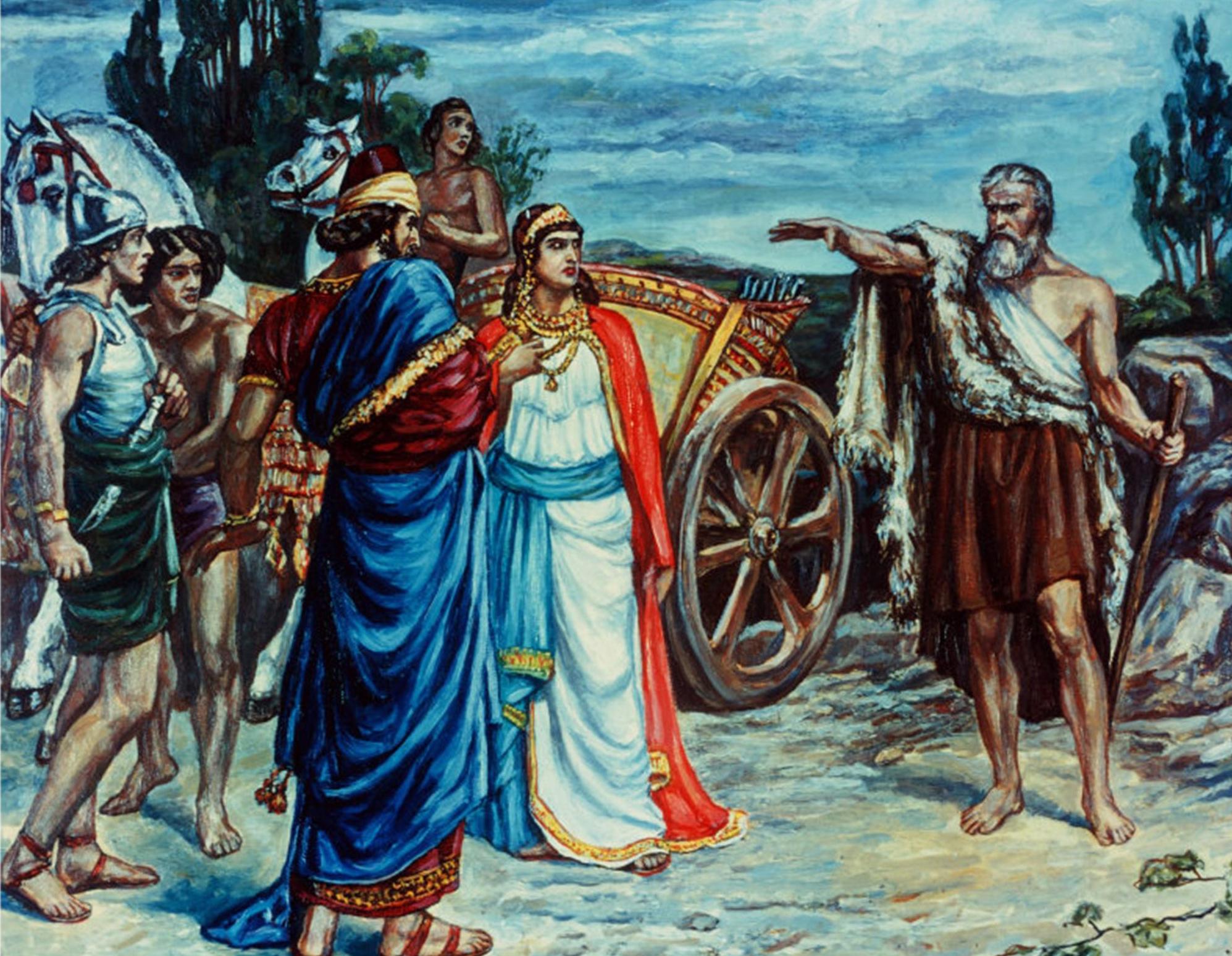 Jezabel and Ahab Meeting Elijah in Naboth's Vineyard Giclee