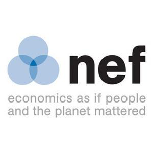 English: New Economics Foundation logo and slogan
