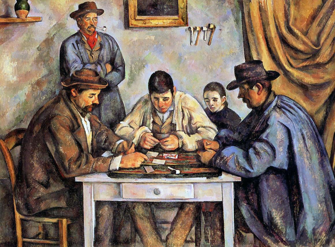 Les joueurs de cartes. Paul Cezanne