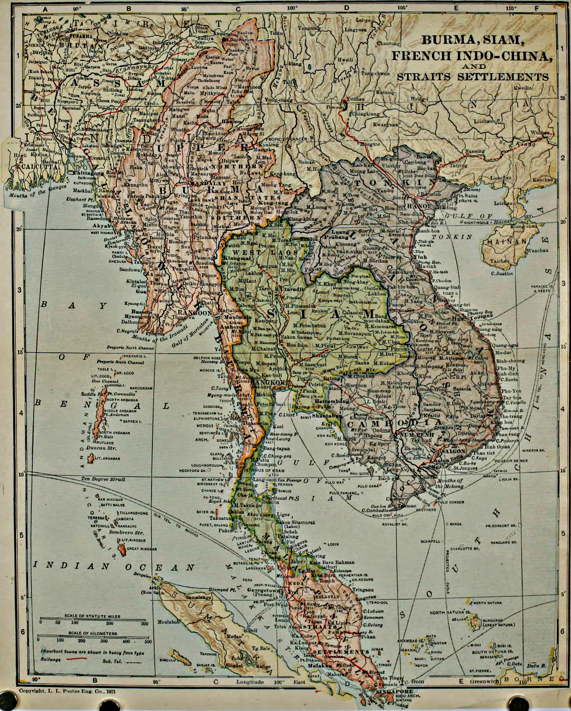 File Collier s 1921 Burma   map of Burma  Siam  French Indo China     File Collier s 1921 Burma   map of Burma  Siam  French Indo China
