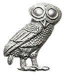 Owl of Ishtar (cut off an old coin)