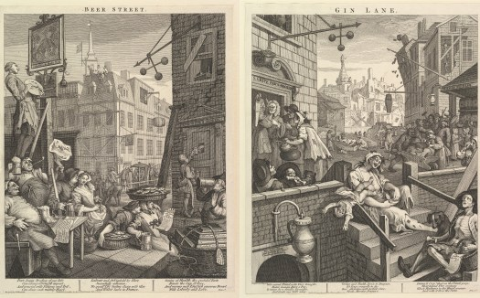 William Hogarth : Beer Street and Gin Lane 1751