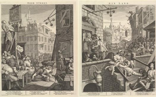 William Hogarth : Beer Street and Gin Lane 1751