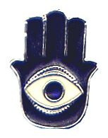 The Hamsa, a charm designed to ward off the ev...