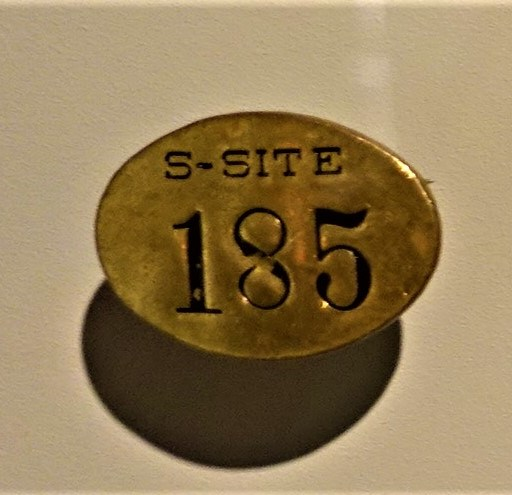 Los Alamos, Manhattan Project, S-Site Badge - www.joyofmuseums.com - International Spy Museum