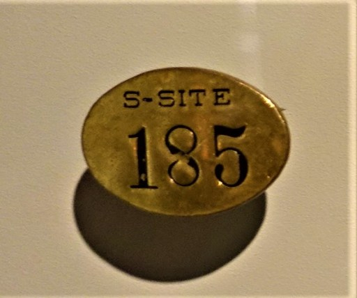 Los Alamos, Manhattan Project, S-Site Badge - www.joyofmuseums.com - International Spy Museum