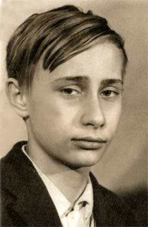 English: Vladimir Putin at school age