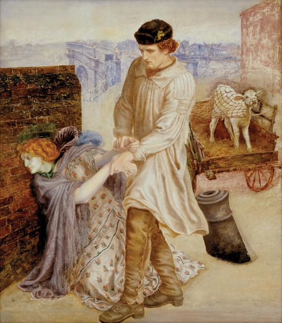 """""""Found"""", Dante Gabriel Rossetti, 1854–55, 1859–81, oil on canvas, Delaware Art Museum, Wilmington, Delaware – USA"""