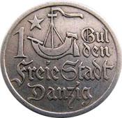1 Gulden (Freie Stadt Danzig 1923) Aversum