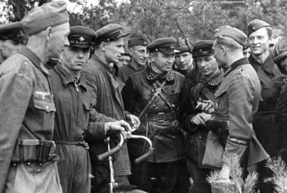 What did the German soldiers of WWII think of British, US