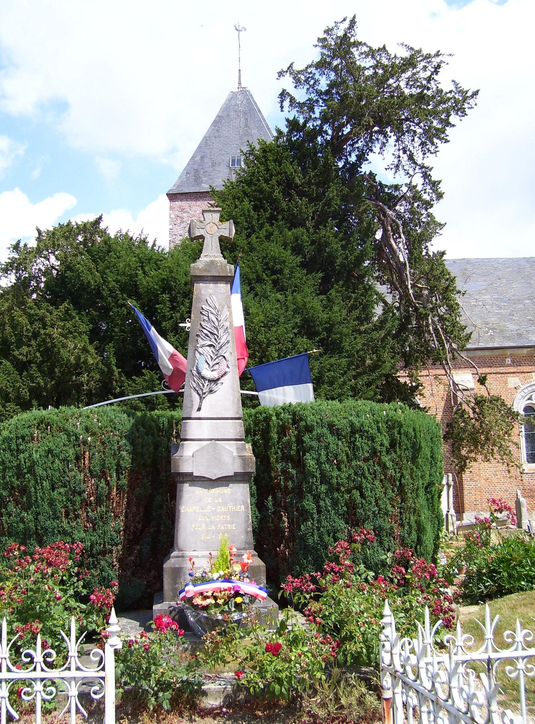 monument aux morts la chapelle-gauthier