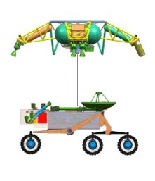 English: This drawing shows how the rover woul...