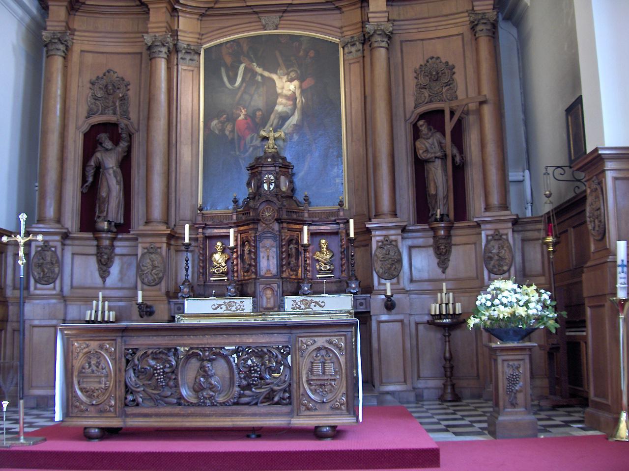 Picture of high altar from Kapucijnenkerk in Ostend, Belgium