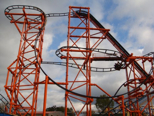 Roller Coaster at Flamingoland
