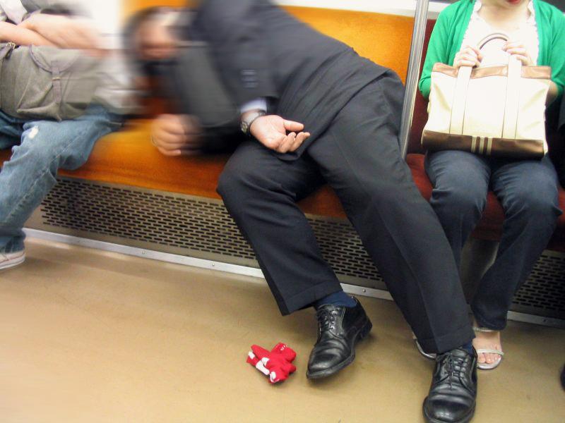 A sleeping salaryman
