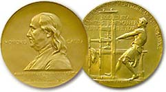 The Pulitzer Prize gold medal award
