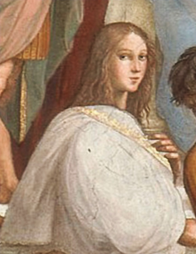 Detail from The School of Athens by Raffaello ...