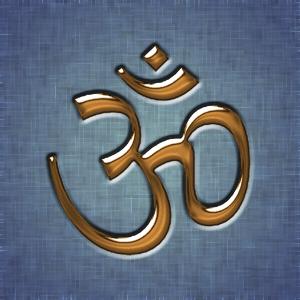 A golden Aum written in Devanagari. The Aum is...