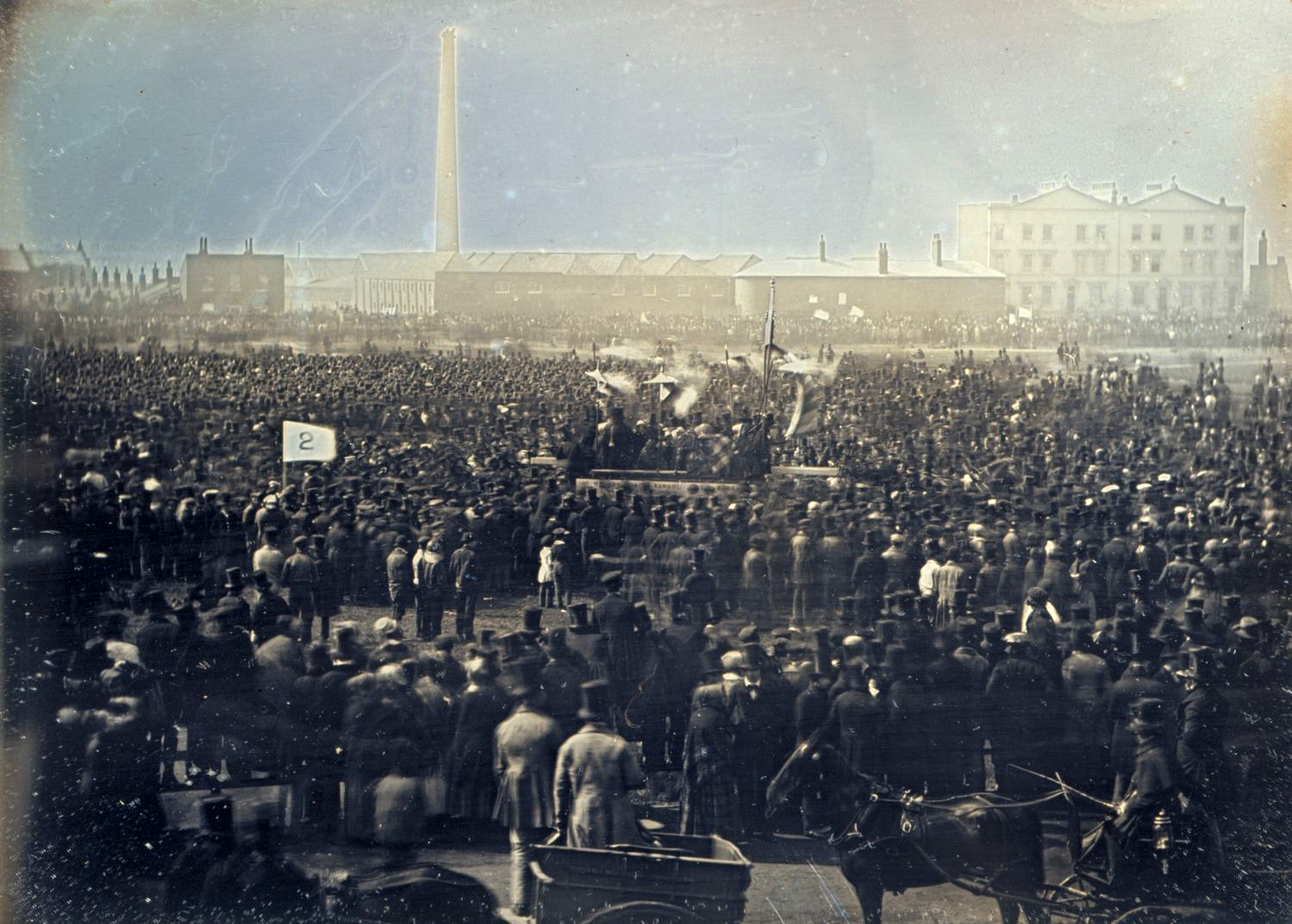 The Great Chartist Meeting on Kennington Common, 1848.