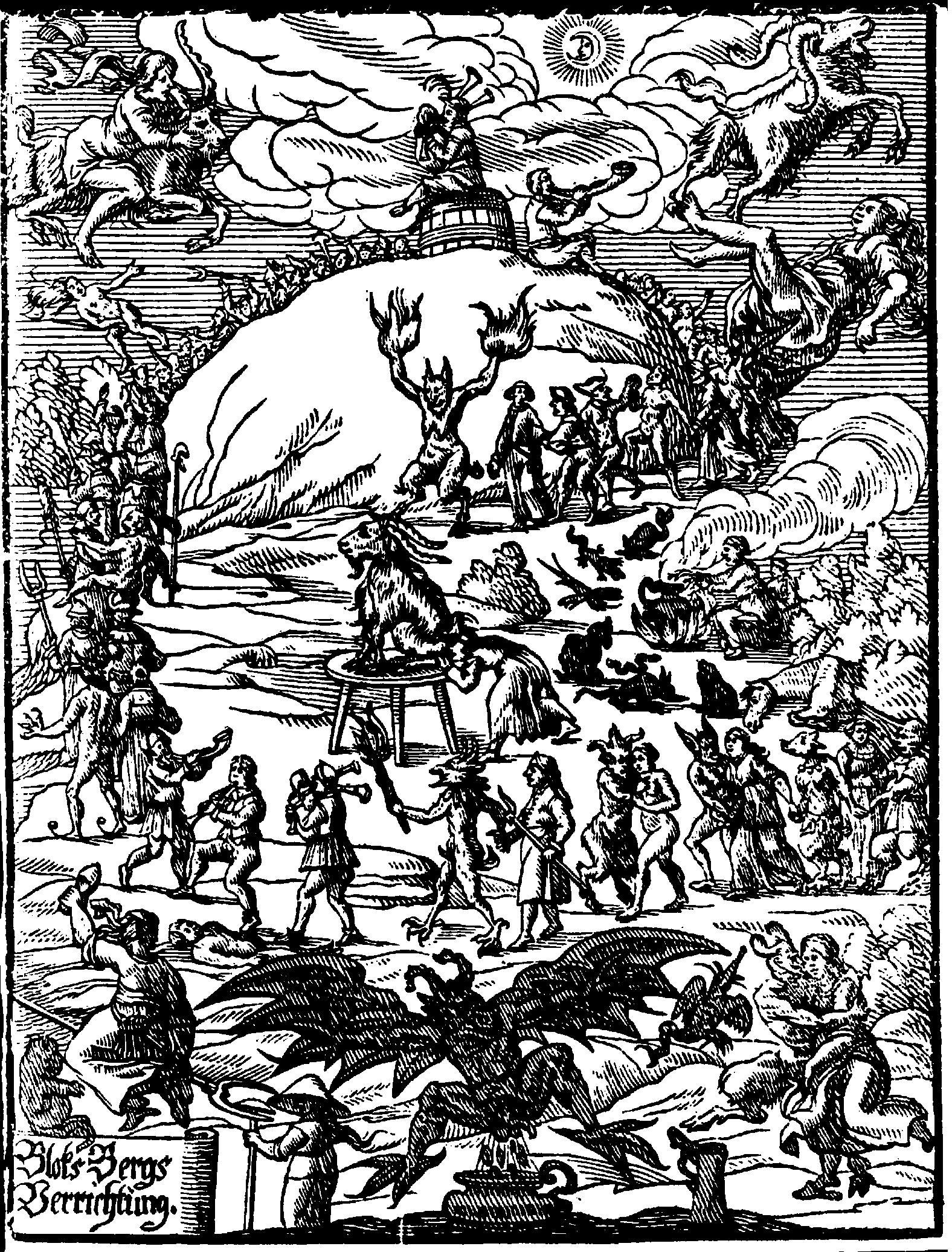 Johannes Praetorius: Blockes-Berges Verrichtung, Leipzig 1668, Lizenz:Public Domain
