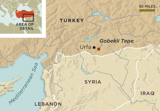 Location of Gobekli Tepe in Turkey