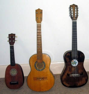 photo of 3 ukeleles