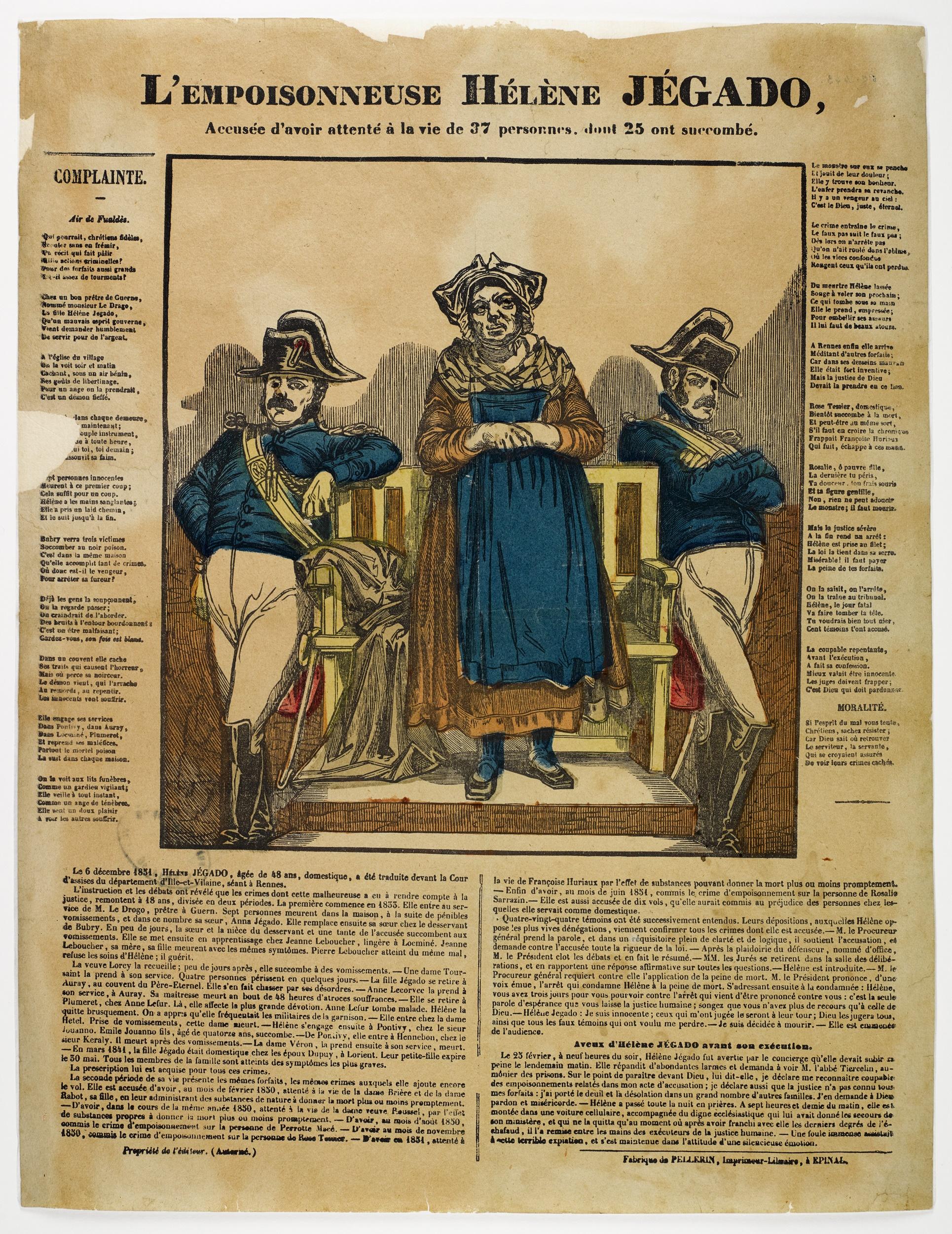 Hélène Jégado (1803-1852) French serial killer