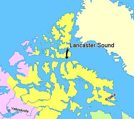 Archivo:Map indicating Lancaster Sound, Nunavut, Canada.png