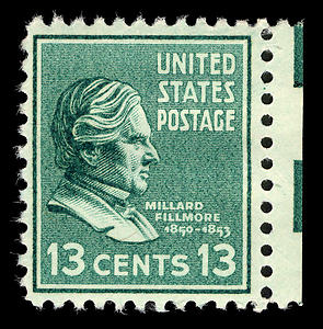 English: 1938 u.s. postage stamp of Millard Fi...