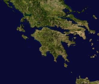 Blue Marble map peloponnes section