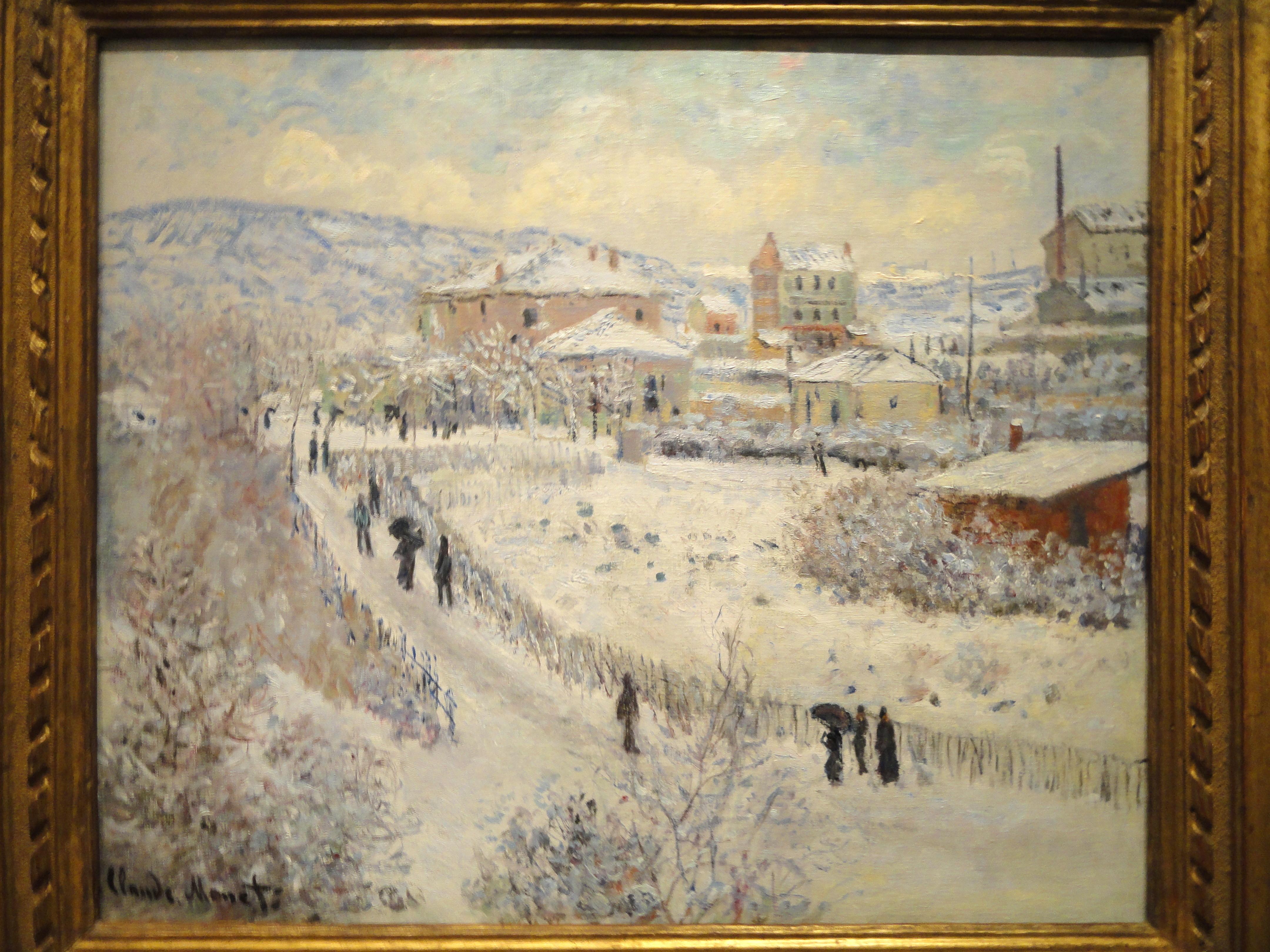 FileView Of Argenteuil Snow Claude Monet 1874 1875