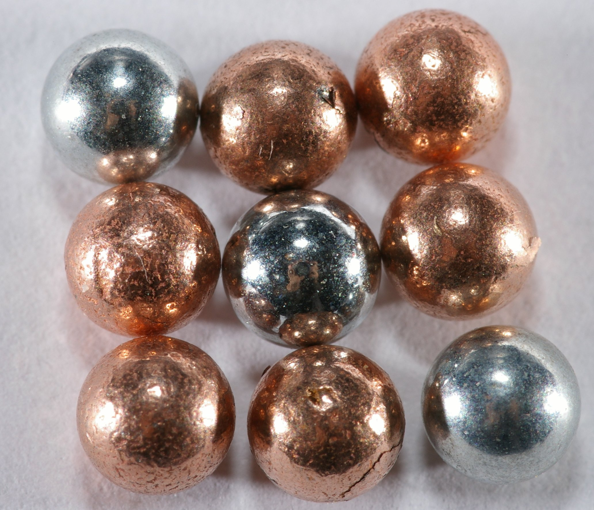 copper and nickel plated bb pellets