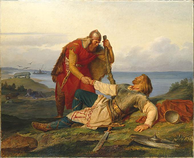 File:Hjalmars avsked av Orvar Odd efter striden på Samsö.jpg