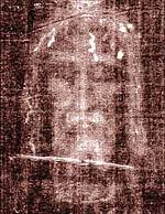 Русский: Спас Отпечаток лика Христа на Туринск...